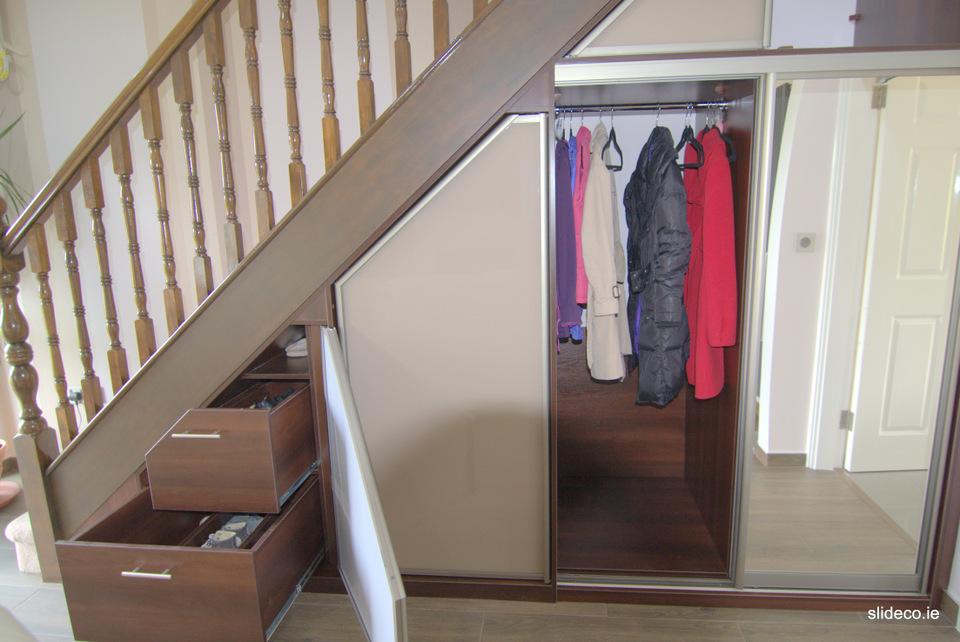 Under Stairs Glamour Design Sliding Wardrobes Slideco