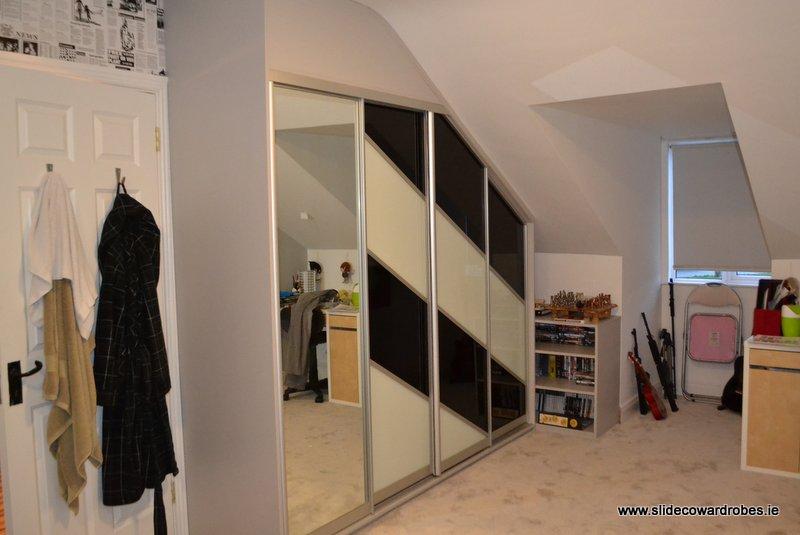 slanted sliding wardrobe